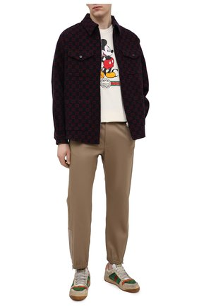 Мужская хлопковая футболка disney x gucci GUCCI светло-бежевого цвета, арт. 565806/XJB66 | Фото 2