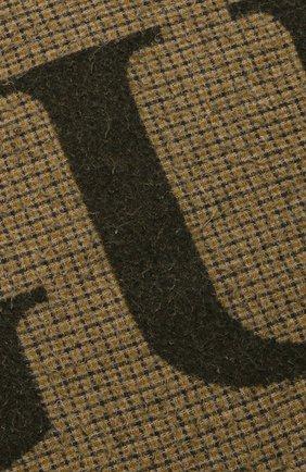Мужской шерстяной шарф GUCCI хаки цвета, арт. 644403/4GA41 | Фото 2