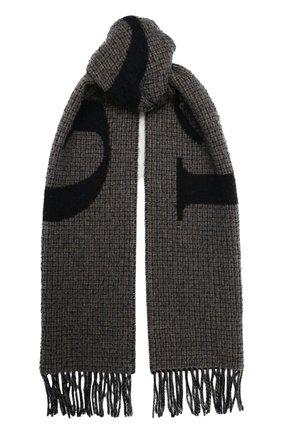 Мужской шерстяной шарф GUCCI темно-синего цвета, арт. 644403/4GA41   Фото 1