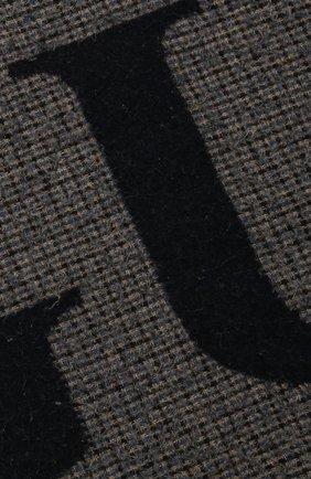 Мужской шерстяной шарф GUCCI темно-синего цвета, арт. 644403/4GA41   Фото 2
