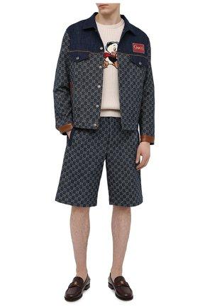 Мужские джинсовые шорты GUCCI синего цвета, арт. 649093/XDBK1   Фото 2