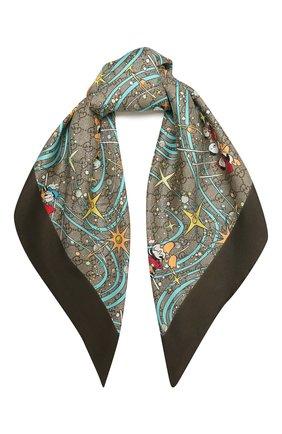 Шелковый шарф Disney x Gucci | Фото №1