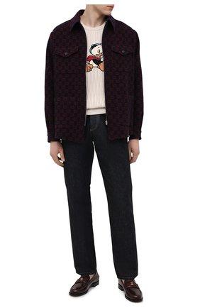 Мужской свитер из хлопка и шерсти disney x gucci GUCCI кремвого цвета, арт. 650076/XKBRQ | Фото 2