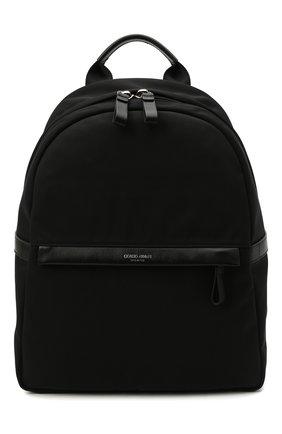 Мужской текстильный рюкзак GIORGIO ARMANI черного цвета, арт. Y20134/YI69E   Фото 1