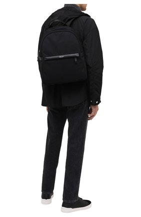Мужской текстильный рюкзак GIORGIO ARMANI черного цвета, арт. Y20134/YI69E   Фото 2