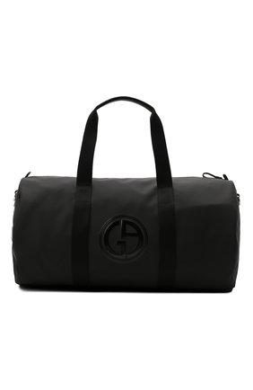 Мужская текстильная дорожная сумка GIORGIO ARMANI черного цвета, арт. Y2Q215/YQB6P   Фото 1