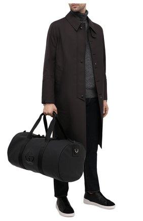 Мужская текстильная дорожная сумка GIORGIO ARMANI черного цвета, арт. Y2Q215/YQB6P   Фото 2
