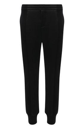 Мужские джоггеры ALEXANDER MCQUEEN черного цвета, арт. 631385/QPX55 | Фото 1 (Материал внешний: Хлопок, Синтетический материал; Материал подклада: Хлопок; Силуэт М (брюки): Джоггеры; Длина (брюки, джинсы): Стандартные; Мужское Кросс-КТ: Брюки-трикотаж; Стили: Спорт-шик)