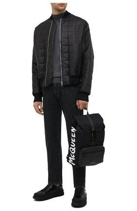 Мужской текстильный рюкзак ALEXANDER MCQUEEN черного цвета, арт. 601374/HWC2B | Фото 2
