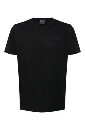 Мужская хлопковая футболка PAUL&SHARK черного цвета, арт. 21411015/C00 | Фото 1