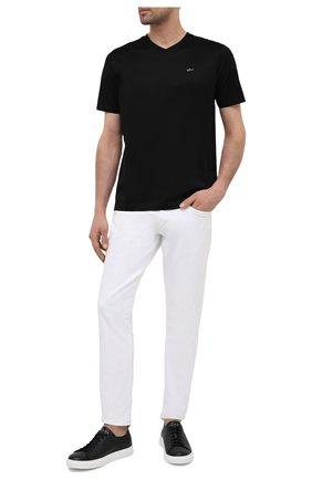 Мужская хлопковая футболка PAUL&SHARK черного цвета, арт. 21411015/C00 | Фото 2