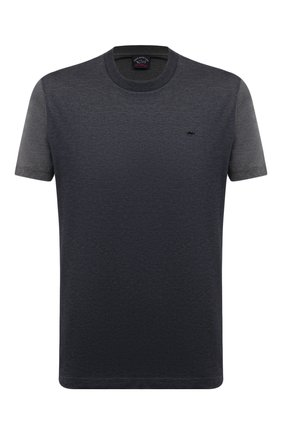 Мужская хлопковая футболка PAUL&SHARK серого цвета, арт. 21411035/C00 | Фото 1