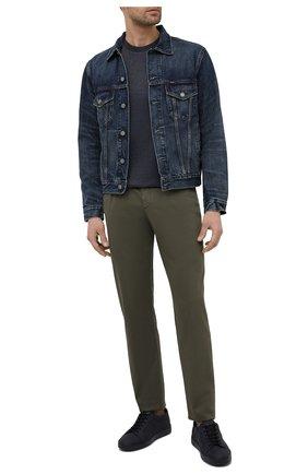 Мужская хлопковая футболка PAUL&SHARK серого цвета, арт. 21411035/C00 | Фото 2