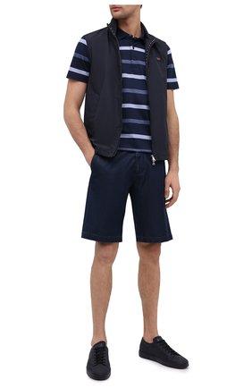 Мужские джинсовые шорты PAUL&SHARK темно-синего цвета, арт. 21414203/FIW | Фото 2