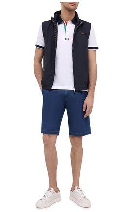 Мужские джинсовые шорты PAUL&SHARK голубого цвета, арт. 21414203/FIW   Фото 2