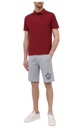 Мужское хлопковое поло PAUL&SHARK бордового цвета, арт. C0P1000/C00 | Фото 2
