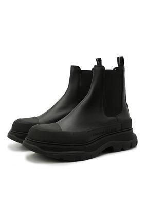 Мужские кожаные челси ALEXANDER MCQUEEN черного цвета, арт. 634617/WHZ61 | Фото 1