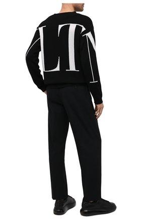Мужские кожаные кеды ALEXANDER MCQUEEN черного цвета, арт. 634611/WHRH9 | Фото 2