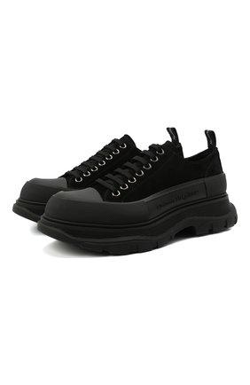 Мужские замшевые кроссовки ALEXANDER MCQUEEN черного цвета, арт. 627225/WHBGU | Фото 1