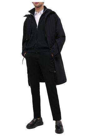 Мужские кожаные кеды ALEXANDER MCQUEEN черного цвета, арт. 625195/WHYF0 | Фото 2