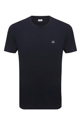 Мужская хлопковая футболка C.P. COMPANY темно-синего цвета, арт. 10CMTS037A-005100W | Фото 1 (Принт: С принтом; Стили: Кэжуэл; Материал внешний: Хлопок; Рукава: Короткие; Длина (для топов): Стандартные)