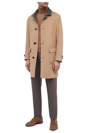 Мужские шерстяные брюки LORO PIANA коричневого цвета, арт. FAL6169 | Фото 2 (Длина (брюки, джинсы): Стандартные; Материал внешний: Шерсть; Случай: Повседневный; Материал подклада: Синтетический материал; Стили: Кэжуэл)