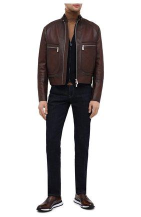 Мужские кожаные кроссовки BERLUTI коричневого цвета, арт. S5425-001 | Фото 2
