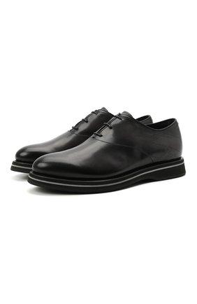 Мужские кожаные оксфорды BERLUTI темно-серого цвета, арт. S5405-001   Фото 1