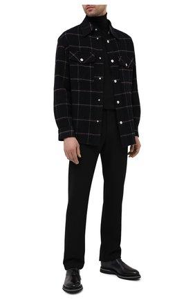 Мужские кожаные оксфорды BERLUTI темно-серого цвета, арт. S5405-001   Фото 2