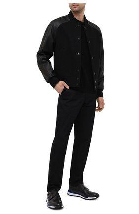 Мужские кожаные кроссовки BERLUTI темно-серого цвета, арт. S5321-001   Фото 2 (Материал внутренний: Натуральная кожа; Подошва: Массивная; Стили: Классический; Материал внешний: Кожа)