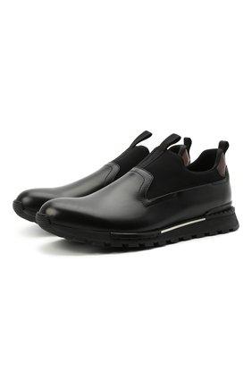 Мужские кожаные кроссовки BERLUTI черного цвета, арт. S5281-001 | Фото 1