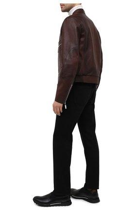 Мужские кожаные кроссовки BERLUTI черного цвета, арт. S5281-001 | Фото 2
