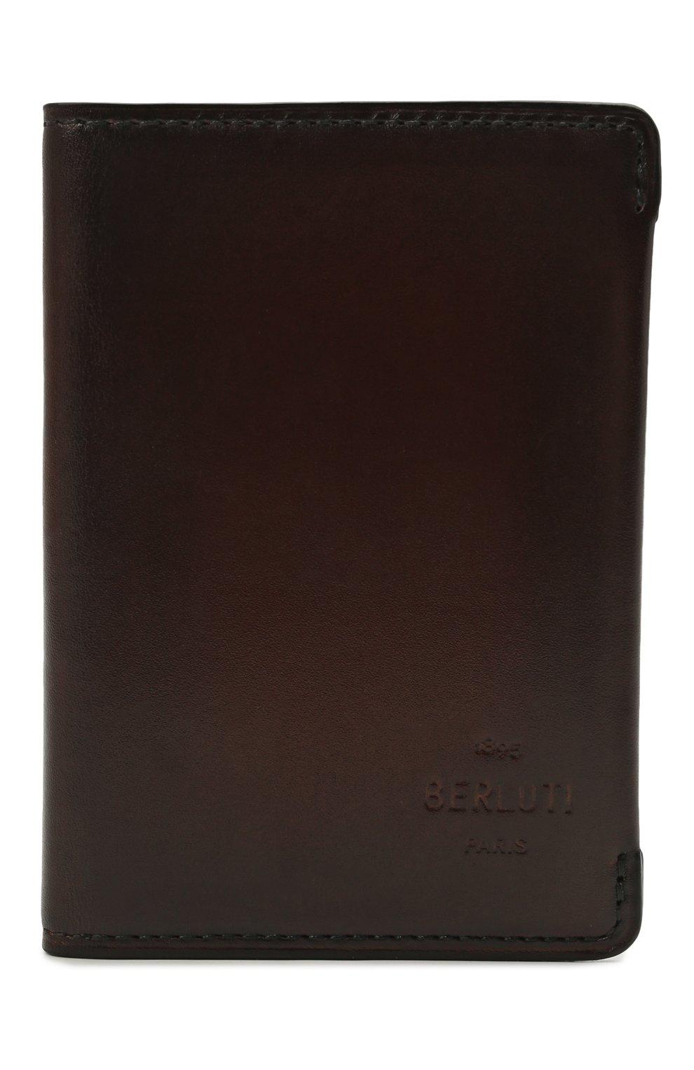 Мужской кожаный футляр для кредитных карт BERLUTI коричневого цвета, арт. N211840 | Фото 1