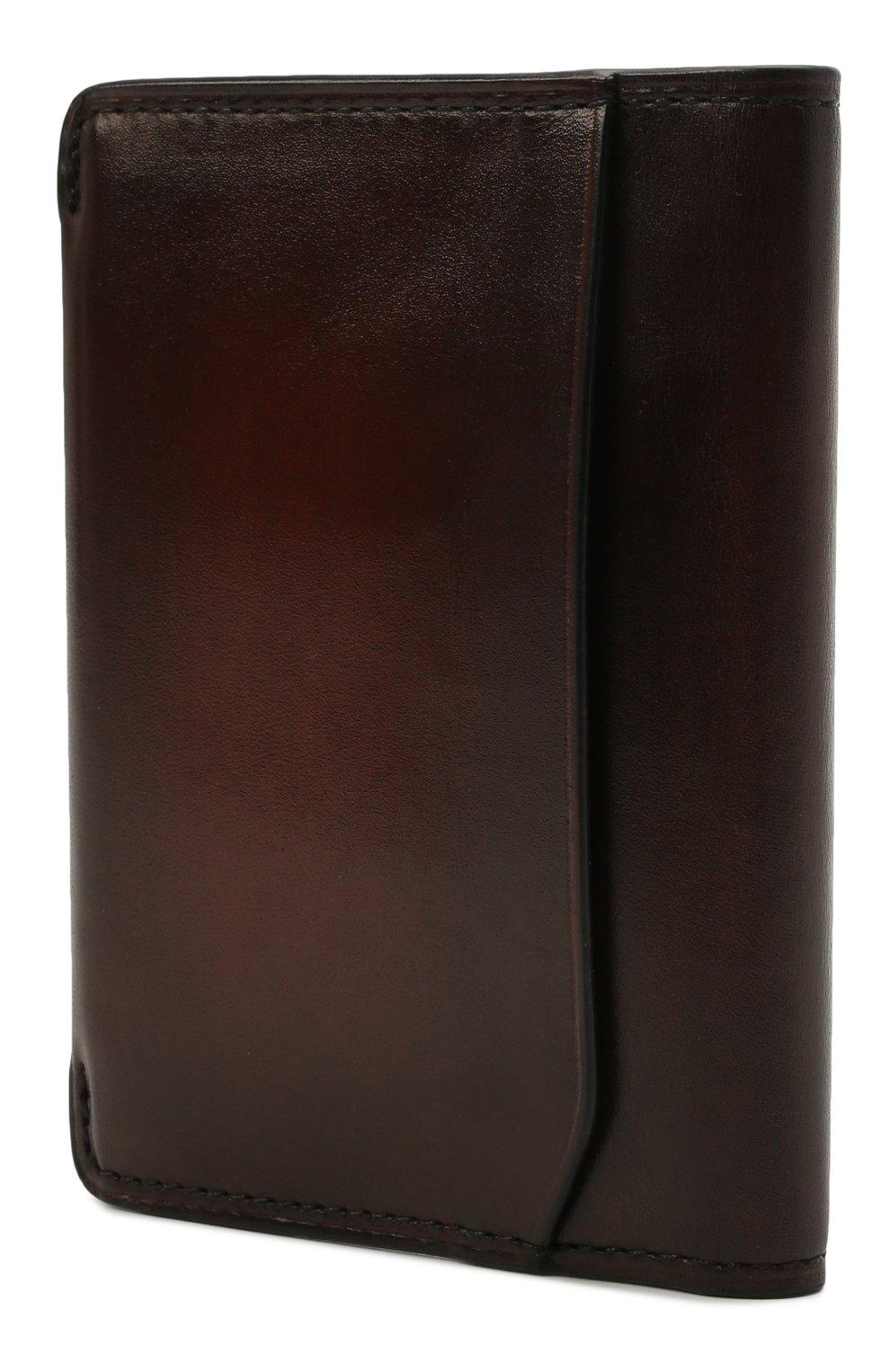 Мужской кожаный футляр для кредитных карт BERLUTI коричневого цвета, арт. N211840 | Фото 2