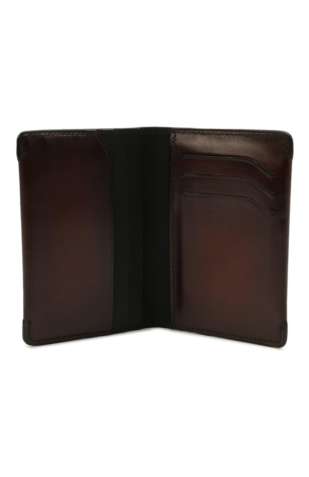 Мужской кожаный футляр для кредитных карт BERLUTI коричневого цвета, арт. N211840 | Фото 3