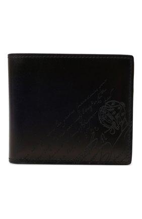 Мужской кожаное портмоне BERLUTI темно-синего цвета, арт. N214779 | Фото 1