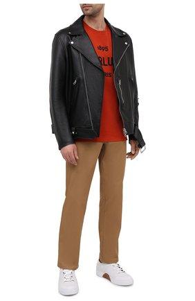Мужская хлопковая футболка BERLUTI оранжевого цвета, арт. R18JRS50-007 | Фото 2