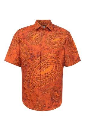 Мужская шелковая рубашка BERLUTI оранжевого цвета, арт. R19HCS35-001 | Фото 1