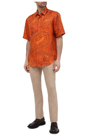 Мужская шелковая рубашка BERLUTI оранжевого цвета, арт. R19HCS35-001 | Фото 2