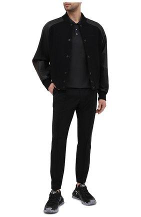 Мужское хлопковое поло BERLUTI темно-серого цвета, арт. R19JPS47-001   Фото 2