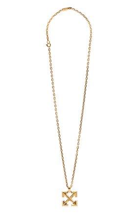Мужского цепь с кулоном OFF-WHITE золотого цвета, арт. 0M0B019R21MET0017600 | Фото 1