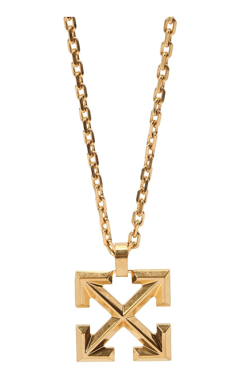 Мужского цепь с кулоном OFF-WHITE золотого цвета, арт. 0M0B019R21MET0017600 | Фото 2