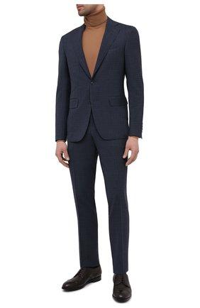 Мужские кожаные дерби ERMENEGILDO ZEGNA коричневого цвета, арт. A4379X-LHCV0 | Фото 2 (Стили: Классический; Материал внутренний: Натуральная кожа)