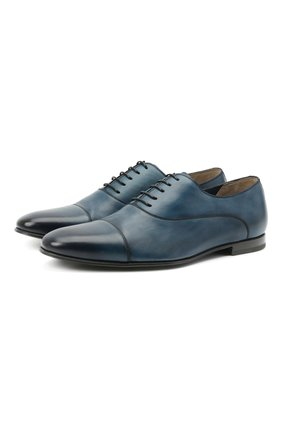 Мужские кожаные оксфорды BARRETT синего цвета, арт. 141U002.8/C0RSAR0 | Фото 1