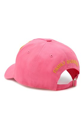 Мужской хлопковая бейсболка DSQUARED2 розового цвета, арт. BCM0307 05C00001/CG | Фото 2