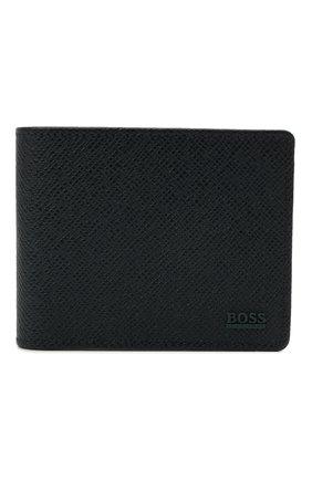 Мужской кожаное портмоне BOSS темно-синего цвета, арт. 50446651 | Фото 1