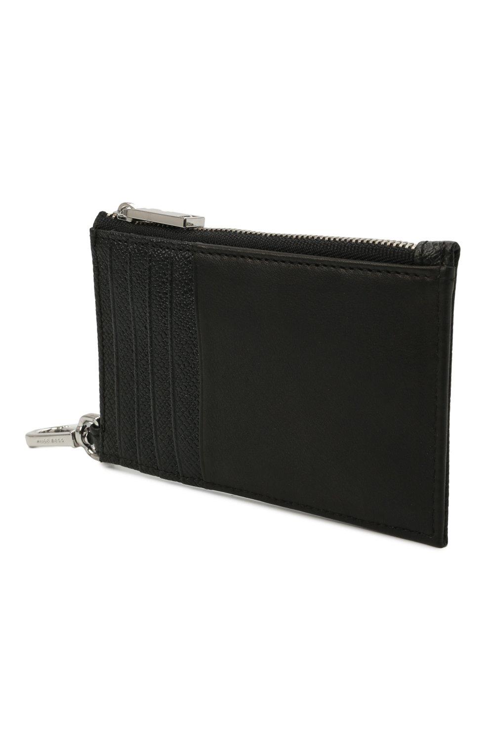 Мужской кожаный кошелек для монет BOSS черного цвета, арт. 50446706   Фото 2