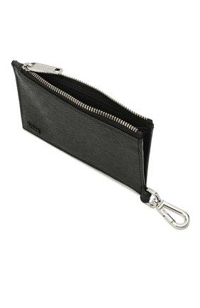 Мужской кожаный кошелек для монет BOSS черного цвета, арт. 50446706   Фото 3