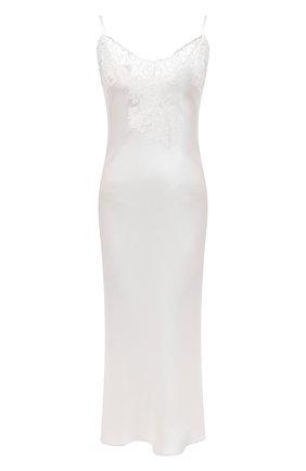 Женская шелковая сорочка MARJOLAINE белого цвета, арт. 3GEM3001 | Фото 1