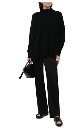 Женский кашемировый свитер BOSS черного цвета, арт. 50444485 | Фото 2